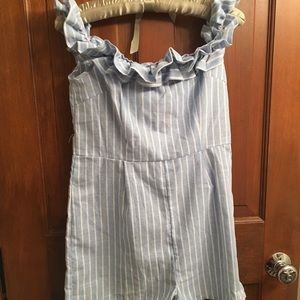 Blue misguided romper! NWT!